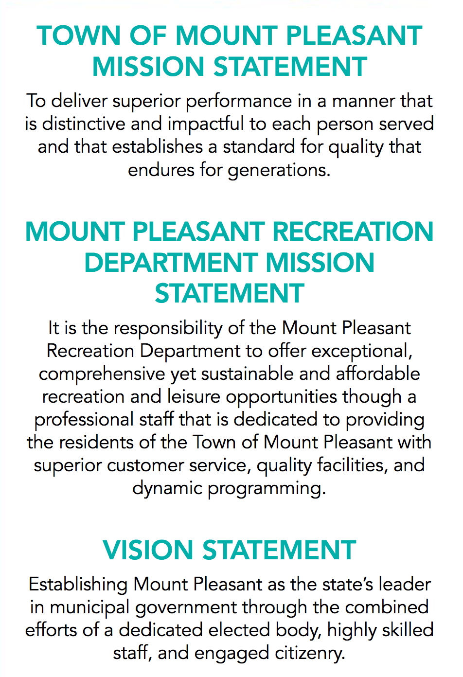 Mission Statements